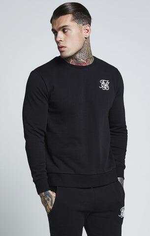 SikSilk Curved Hem Crew Sweat