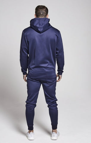 Sik Silk - Poly Tricot Fitted Jog Pant - Navy