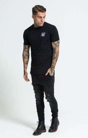 Sik Silk - Short Sleeve Gym Tee - Black
