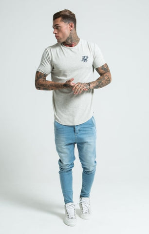 Sik Silk - Short Sleeve Gym Tee - Snow Marl