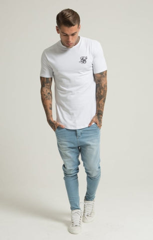 Sik Silk - Short Sleeve Gym Tee - White