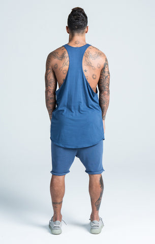 Sik Silk - Gym Vest - Navy Vest