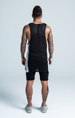Sik Silk - Rebirth Burn Out Vest - Black/Grey