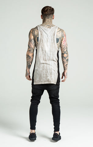 Sik Silk - Rebirth Burn Out Vest - Grey/Black