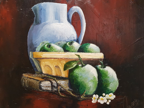 Apple Bowl - Painting - Sjon de Groot