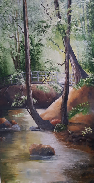 Birchwood Glen - Painting - Sjon de Groot