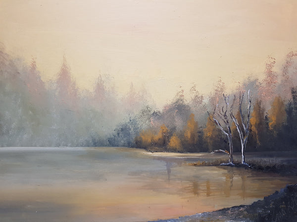 Credit Lake - Painting - Sjon de Groot