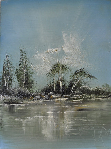 Etobicoke Creek - Painting - Sjon de Groot