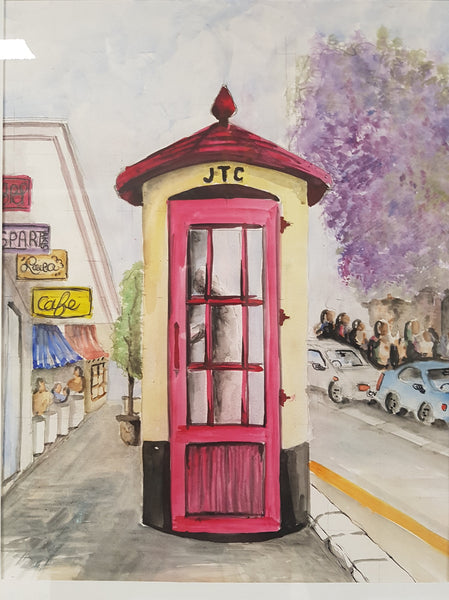 Johannesburg Telephone Booth - Painting - Sjon de Groot