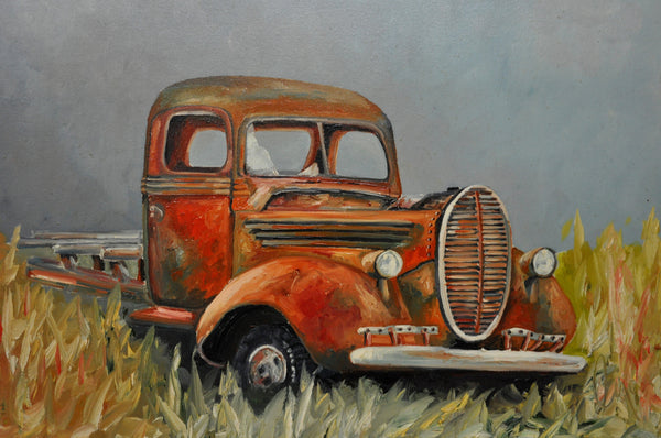 Lost in Time - Painting - Sjon de Groot