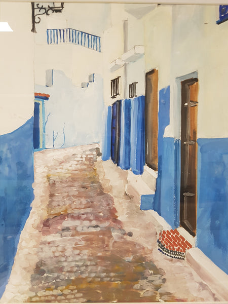 Morocco Alley 2 - Painting - Sjon de Groot