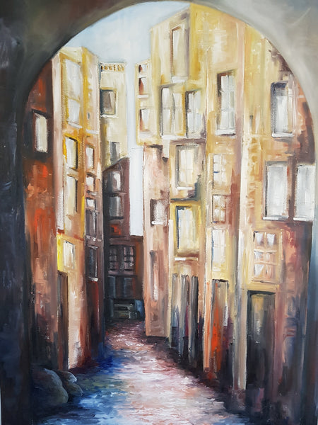 Streets of the Monacco Madena - Painting - Sjon de Groot