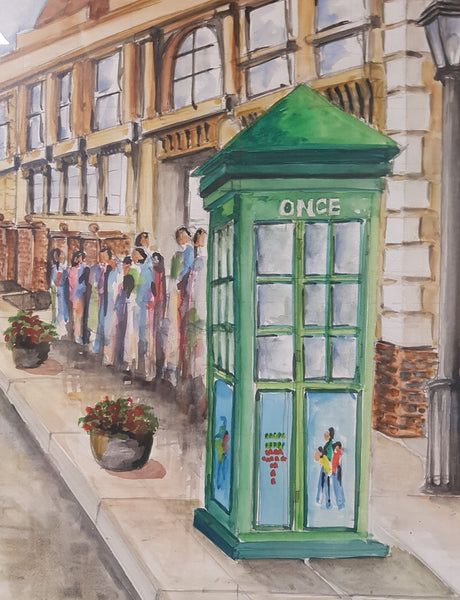 Telephone Booth in Spain - Painting - Sjon de Groot