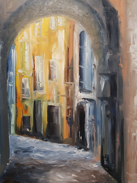 The Alleyway 2 - Painting - Sjon de Groot