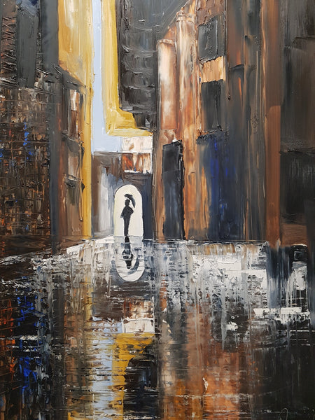 The Alleyway 3 - Painting - Sjon de Groot