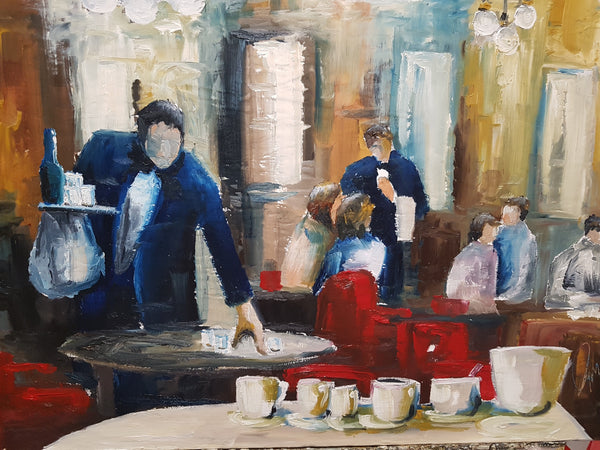 The Tea Room 2 - Painting - Sjon de Groot