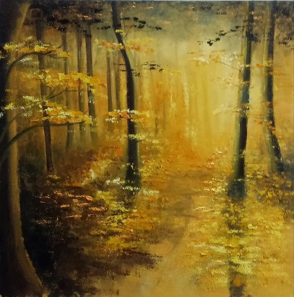 The Woods - Painting - Sjon de Groot