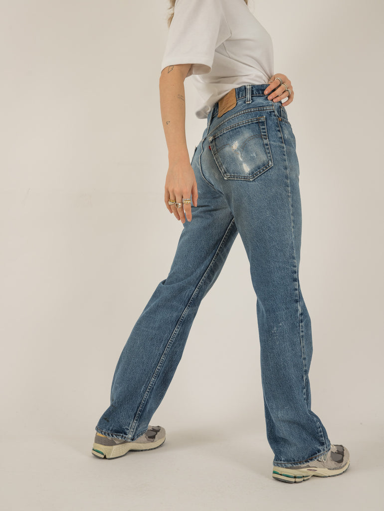 Ladies Vintage Roll Neck Long Sleeve Top - Small