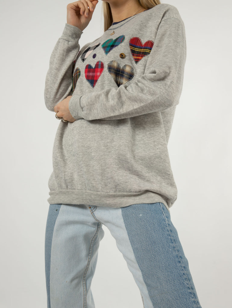 Women's Vintage Embroidered Sweatshirt - Large