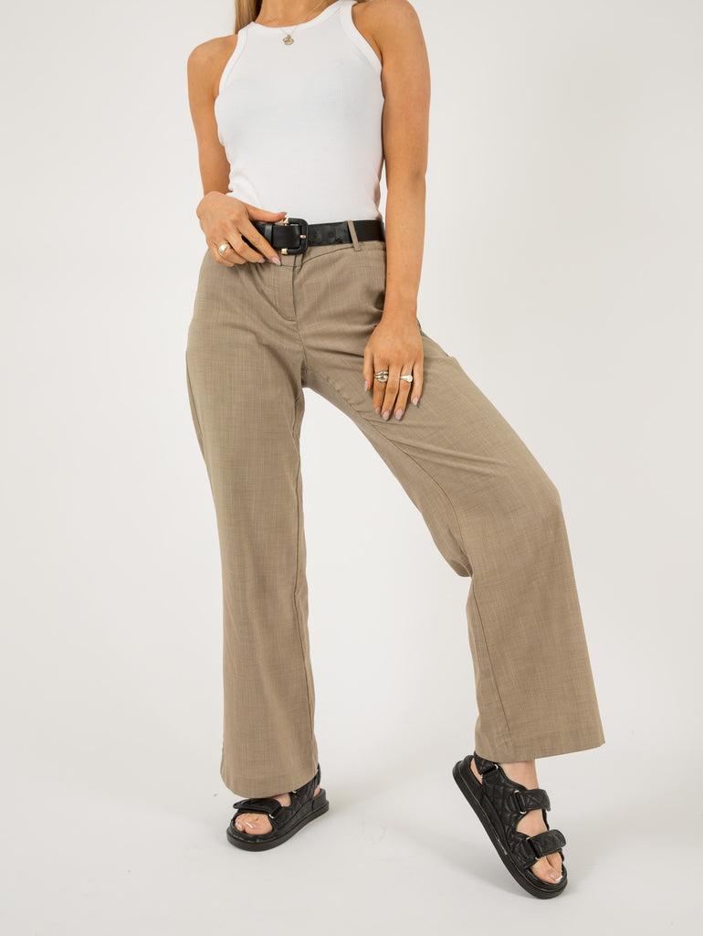 Ladies Vintage Tie Front Wrinkled Trousers - Large