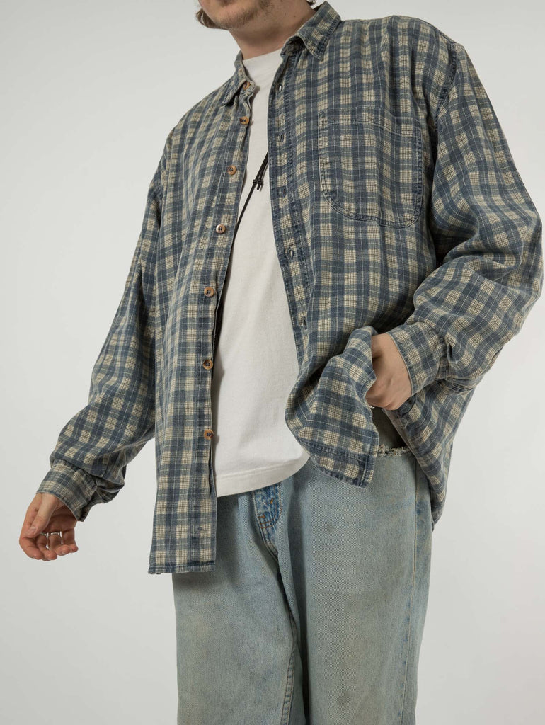 Men's Vintage Yves Saint Laurent Checked Shirt - Small