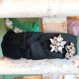 STAR RHINESTONE SILK HEADBAND