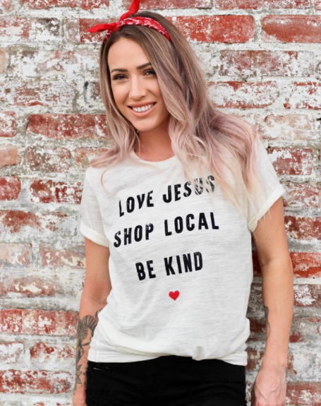 SHOP LOCAL IVORY TEE