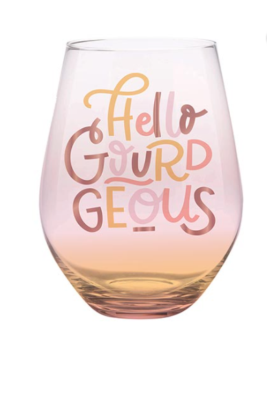 HELLO GOURDGEOUS 30 OZ STEMLESS