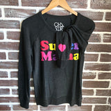 SUPER MAMA COZY KNIT LONG SLEEVE TOP