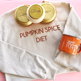PUMPKIN SPICE DIET CROPPED SWEATSHIRT
