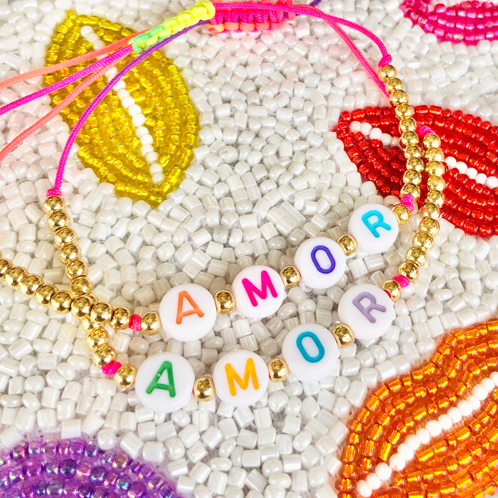 AMOR TINY GOLD BEAD BRACELET