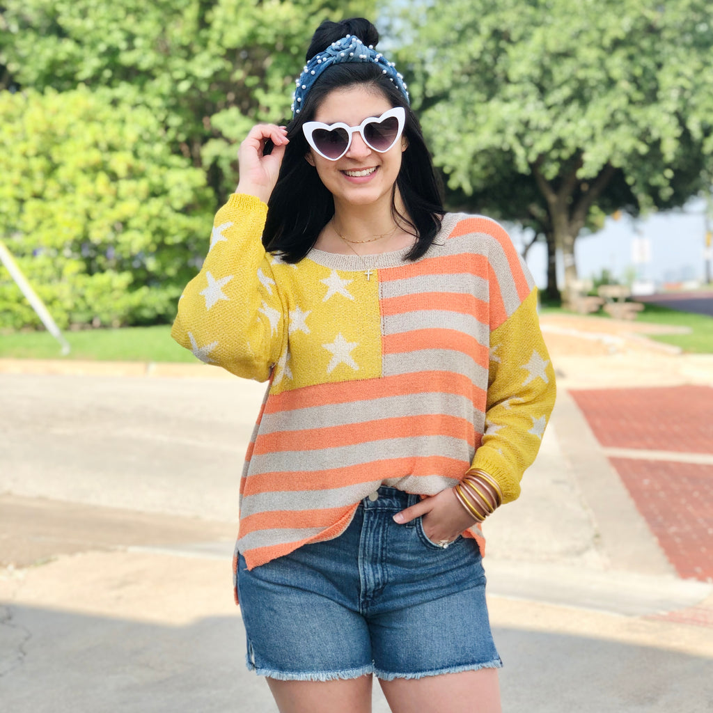 SUNBURST  STAR SWEATER