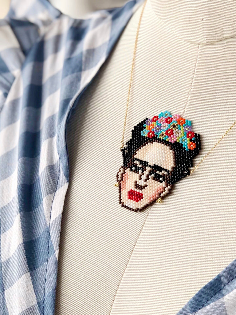 FRIDA BEADED NECKLACE