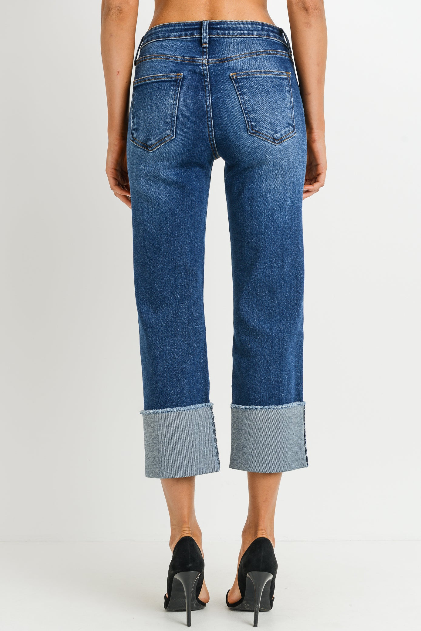 HR STRAIGHT OVERSIZED CUFF JEANS BP163J