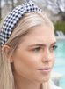 BLACK GINGHAM KNOT HEADBAND