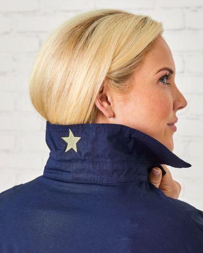 NAVY PREPPY GOLD STAR SHIRT