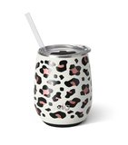 14OZ STEMLESS WINE LUXY LEOPARD