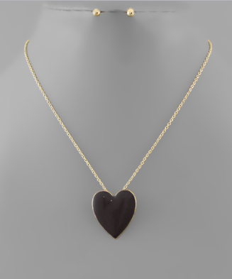 BIG LOVE HEART NECKLACE