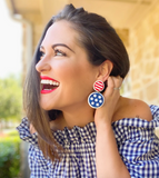 4TH OF JULY - STARS & STRIPES EARRING