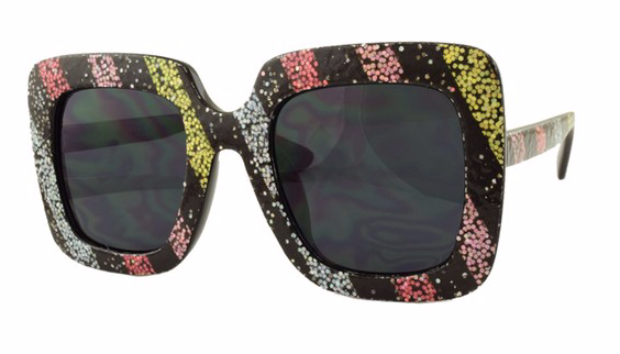 GLITTER STRIPE SUNGLASSES