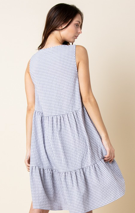 GINGHAM SHIFT DRESS