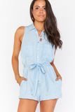 RYLIE ROMPER SHORE CHAMBRAY