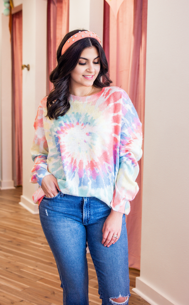 PERFECT TIE DYE SWIRL SWEATER