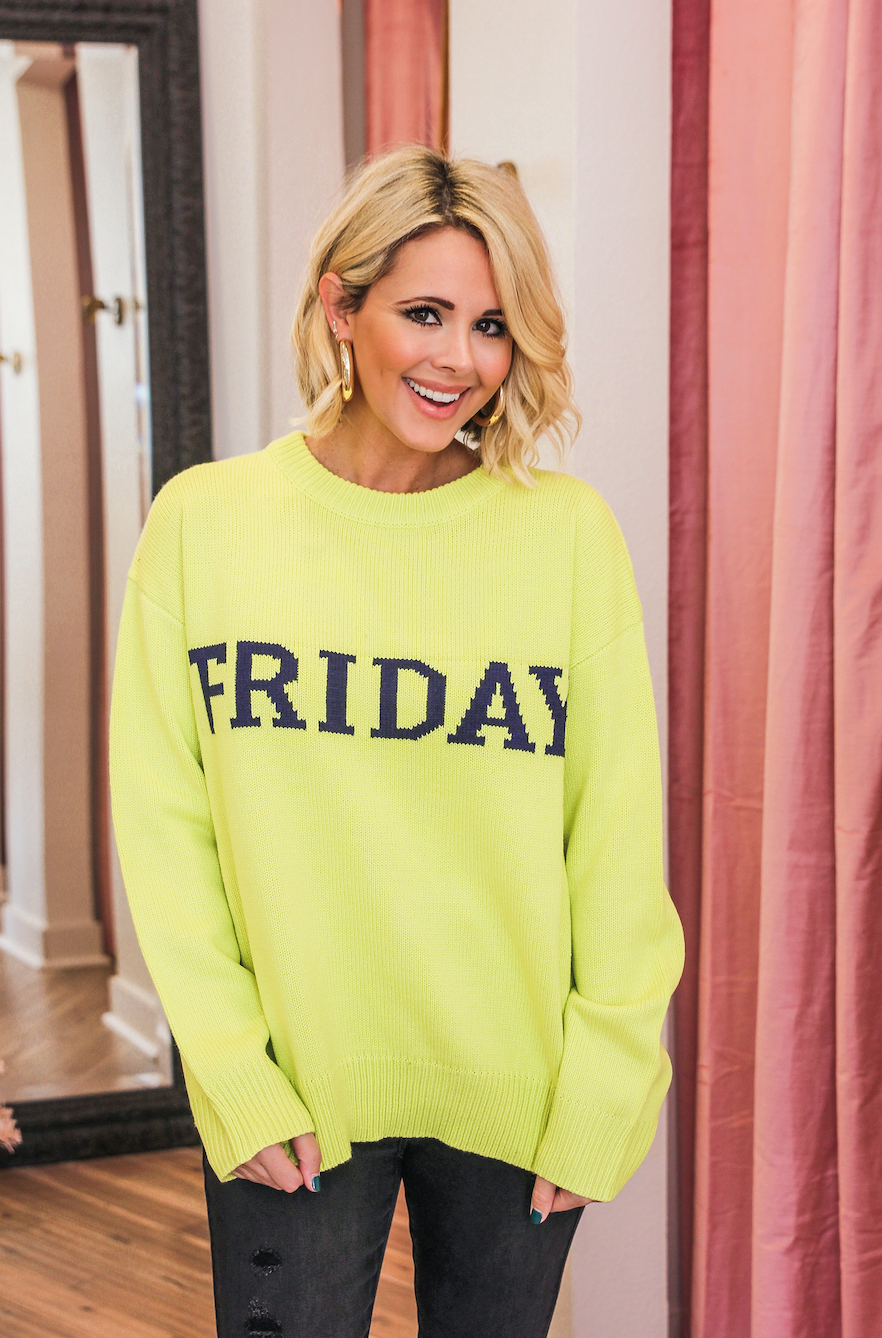 FRIDAY LIME SWEATER