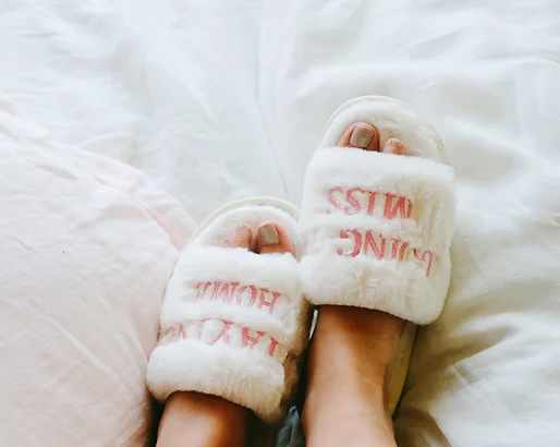STAYING HOME SLIPPERS