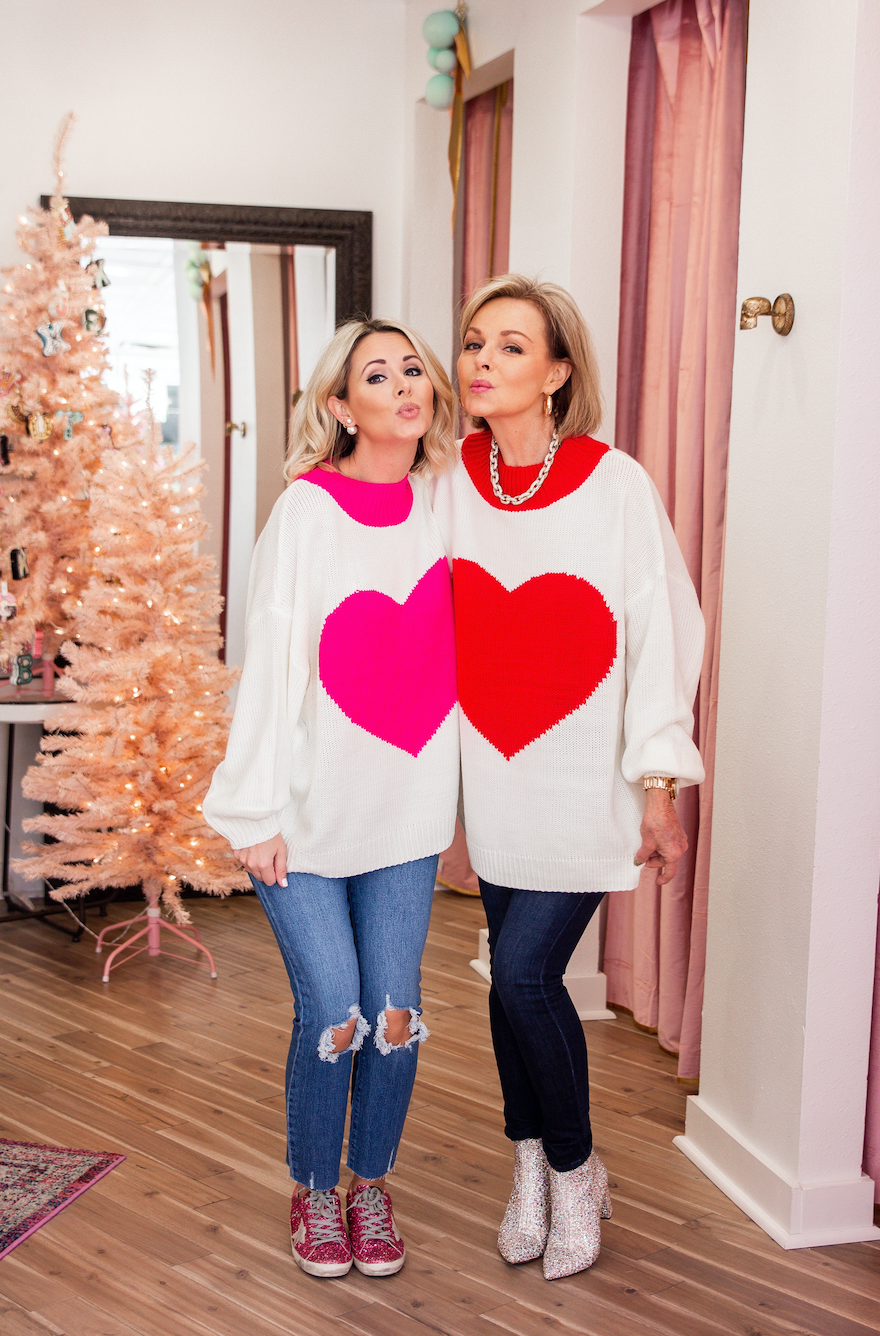 BIG LOVE HEART SWEATER