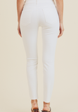 WHITE CLASSIC ANKLE SKINNY BP117J-A
