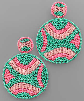 ABSTRACT BEADED EARRING