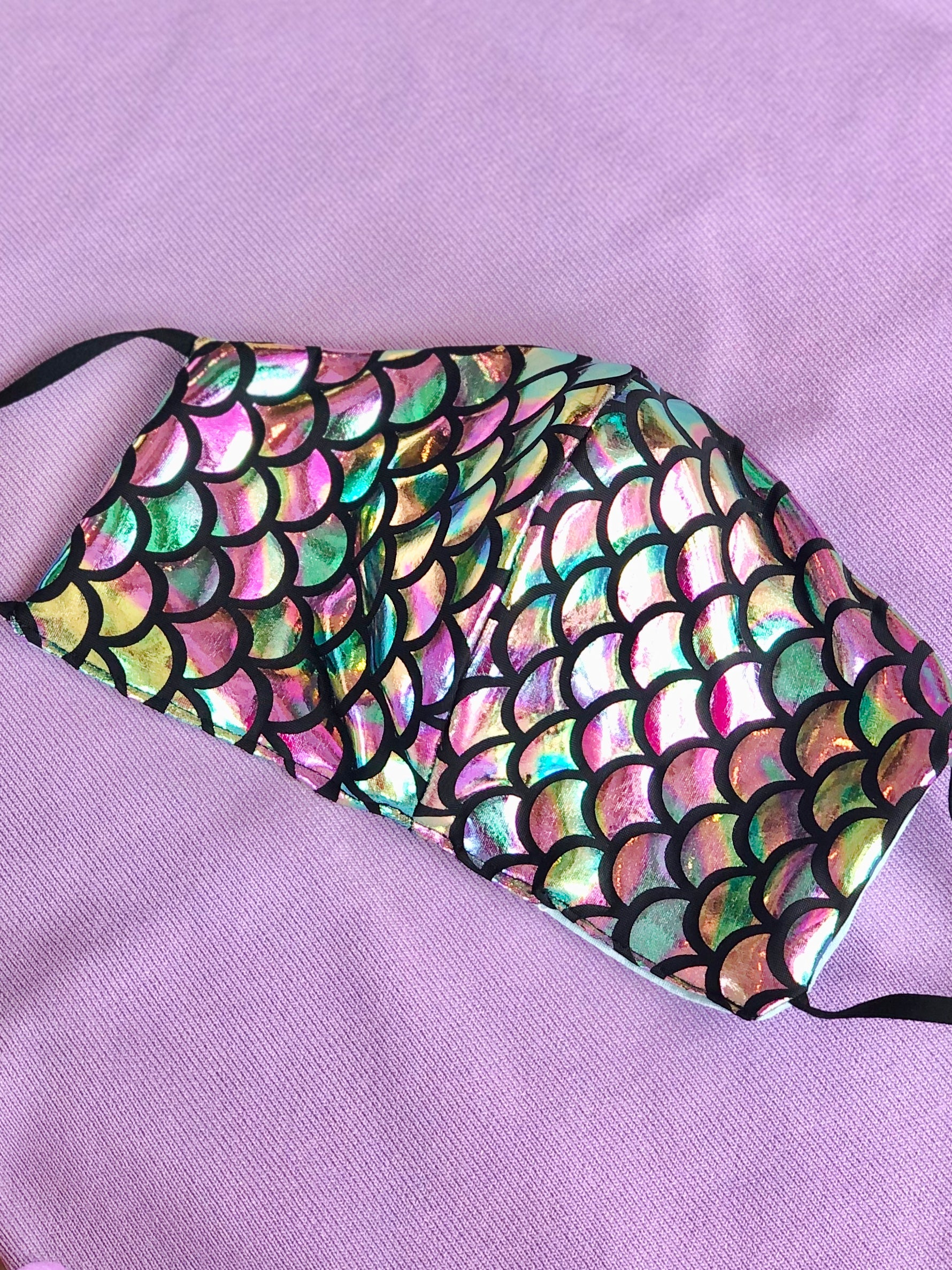 IRIDESCENT MERMAID FACE MASK
