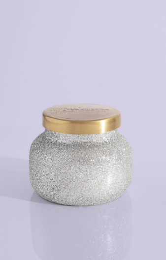 FROSTED FIRESIDE GLAM SILVER PETITE JAR 8OZ